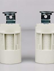 cheap -2pcs E14 Bulb Connector Lamp Base Metalic Plastic Bulb Accessory 70