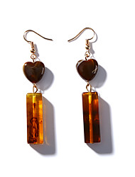 cheap -Women's Heart Drop Earrings - Vintage Fashion Korean Heart For Daily