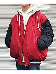 Pánské S vycpávkou Jednoduchý Jdeme ven Písmeno-Kabát Polyester Dlouhý rukáv