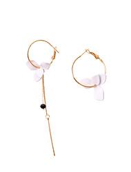 Недорогие -Жен. несовместимый Серьги-кольца - Цветы европейский, Мода Белый / Темно-синий / Розовый Назначение Для вечеринок