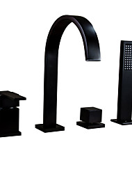cheap -Bathtub Faucet - Traditional Oil-rubbed Bronze Widespread Ceramic Valve
