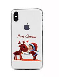 Para iPhone X iPhone 8 iPhone 8 Plus iPhone 7 iPhone 6 Funda iPhone 5 Carcasa Funda Diseños Cubierta Trasera Funda Navidad Suave TPU para