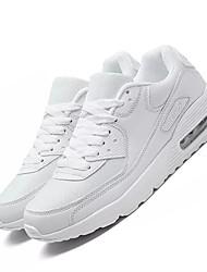 economico -Da donna Scarpe PU (Poliuretano) Primavera Autunno Comoda Sneakers Piatto Punta tonda Lacci per Casual Bianco