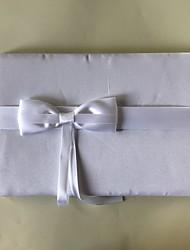 サテン ロマンティック ファンタジー 結婚式Withリボン 1 x 梱包ボックス 結婚式芳名帳