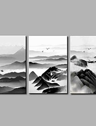 cheap -Stretched Canvas Print Rustic, Three Panels Canvas Horizontal Panoramic Print Wall Decor Home Decoration