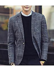 Pánské Jednobarevné Párty Jednoduchý Oblek-Podzim Bavlna Do V Dlouhý rukáv Standardní