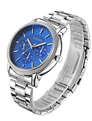 cheap -Men's Fashion Watch Wrist watch Chinese Quartz Large Dial Stainless Steel Band Casual Silver