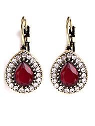 cheap -Women's Hoop Earrings Clip Earrings Rhinestone Metallic Vintage European Resin Alloy Drop Jewelry Evening Party Prom