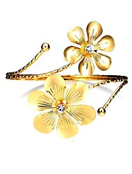 cheap -Women's Stainless Steel Gold Plated Flower Bangles - Vintage Statement Fashion Gold Bracelet For Party Bar