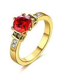 cheap -Women's Crystal Band Ring - Zircon, Alloy Classic, Fashion 6 / 7 / 8 Gold / Silver For Wedding / Party / Birthday