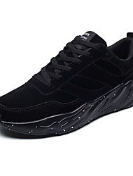 cheap -Men's Shoes Oxford Leather Winter Fall Comfort Athletic Shoes Track & Field Shoes Stitching Lace for Athletic Outdoor Khaki Gray Black