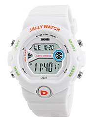 Недорогие -Муж. Жен. Повседневные часы Модные часы Наручные часы Китайский Цифровой Календарь Фосфоресцирующий Повседневные часы силиконовый Группа