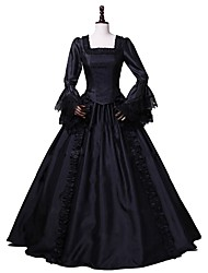 cheap -Rococo Victorian Adults' One Piece Dress Party Costume Masquerade Cosplay Black Long Sleeves