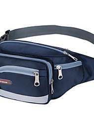 preiswerte -Unisex Taschen Polyester Nylon Hüfttasche Reißverschluss für Normal Alle Jahreszeiten Rote Rosa Dunkelblau Purpur Himmelblau