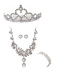 cheap -Women's Jewelry Set - Imitation Diamond European, Fashion Include Headwear Bridal Jewelry Sets White For Wedding Party
