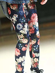 cheap -Girls' Floral Pants, Rayon Modal Spring Fall Cute Active Rainbow