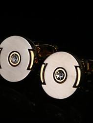 Недорогие -Геометрической формы Золотой Запонки Медь Сплав металлический Мода Свадьба Подарок Муж. Бижутерия
