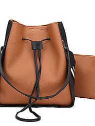 preiswerte -Damen Taschen PU Bag Set 2 Stück Geldbörse Set Reißverschluss für Normal Alle Jahreszeiten Blau Rote Rosa Grau Braun