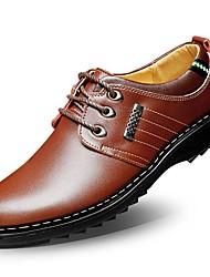 Недорогие -Муж. обувь Оксфорд Весна / Осень Удобная обувь Туфли на шнуровке Черный / Коричневый / Морской синий