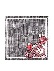 abordables -Mujer Primavera, Otoño, Invierno, Verano Seda Cuadrado,Pintura Gris Oscuro Gris Claro