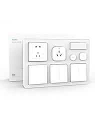 cheap -Xiaomi Aqara Smart Bedroom Kit - WHITE Air Conditioner Mate  Temperature and Humidity Sensor  Body Sensor  Wall Socket  Wall Switch  2pcs Wirel