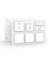 economico -xiaomi aqara smart camera da letto kit - bianco condizionatore d'aria compagno di temperatura e umidità sensore corpo presa a muro