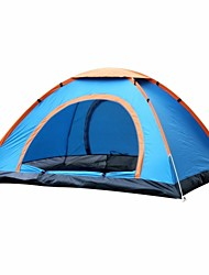 cheap -3-4 persons Oxfords Screen Tent Cabin Tent Beach Tent Canopy Tent Single Camping Tent One Room Automatic Tent Rain-Proof for Fishing