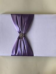 サテン ロマンティック ファンタジー 結婚式Withラインストーン リボン 1 x 梱包ボックス 結婚式芳名帳