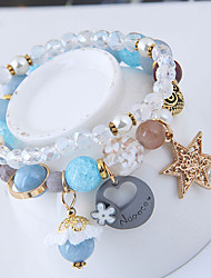 abordables -Femme Charmes pour Bracelets Bracelets de rive Mode Doux Européen Résine Alliage Vert Rose Bleu clair Chouette Bijoux Soirée Bijoux de