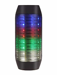 abordables -Flashing Speaker Extérieur Portable Lampe LED Bult-in mic Support de carte mémoire super Bass Bluetooth 2.1 3.5mm AUX haut-parleurs sans