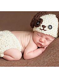 Baby Unisex Tøjsæt Fødselsdag Ensfarvet,Polyester Forår Sommer Uden ærmer Sødt Hvid