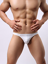 cheap -Men's Stretchy Solid G-string Underwear Thin, Nylon Spandex 1pc White Wine