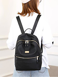 cheap -Women's Bags Oxford Cloth Backpack Zipper for Casual All Seasons Black