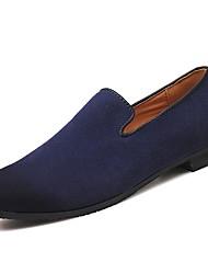 Недорогие -Муж. Кожа / Полиуретан Весна / Осень Удобная обувь Мокасины и Свитер Серый / Коричневый / Синий