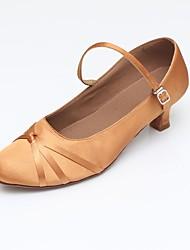 baratos -Mulheres Sapatos de Dança Moderna Sintético / Cetim Sandália / Salto / Têni Recortes Salto Cubano Personalizável Sapatos de Dança Preto /