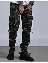 ieftine Pantaloni Cargo-Bărbați Militar Bumbac Pantaloni de marfă Pantaloni camuflaj
