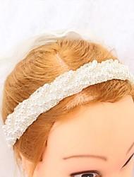 economico -Poliestere Accessori per capelli con Perle false 1pc Matrimonio / Occasioni speciali Copricapo
