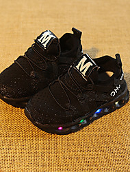 cheap -Boys' Shoes PU Spring Fall Light Up Shoes Sneakers LED for Casual Pink Black White
