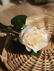 1 Větev Polyester Umělá hmota Růže Květina na stůl Umělé květiny