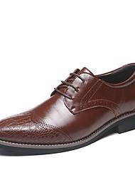 baratos -Homens sapatos Couro Envernizado Sintético Primavera Verão Sapatos formais Conforto Oxfords Rendado Estampa Animal para Casual Escritório