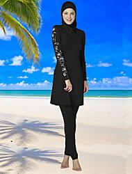 cheap -Women's Floral Print Boho Halter Tankini Swimwear,Polyester Black