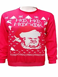cheap -Hodor Ugly Christmas Sweater / Sweatshirt Men's Christmas Festival / Holiday Halloween Costumes Black Red Blue Printing Euramerican