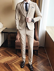 cheap -Men's Suits-Solid Colored,Oversized / Long Sleeve