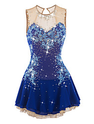cheap -Figure Skating Dress Women's / Girls' Ice Skating Dress Aquamarine Spandex Rhinestone / Appliques Performance Skating Wear Handmade
