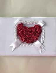 cheap -Satin Romance Fantacy WeddingWithFlower 1 Package Box Guest Book