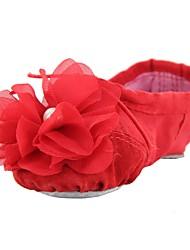 baratos -Sapatilhas de Balé Lona Sapatilha Sem Salto Personalizável Sapatos de Dança Bege / Vermelho / Rosa claro