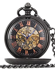 cheap -Couple's Children's Pocket Watch Skeleton Watch Casual Watch Chinese Quartz Skull Casual Watch Alloy Band Luxury Casual Skull Black