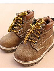 cheap -Boys' Shoes Leatherette Winter Fall Combat Boots Comfort Boots Walking Shoes Booties/Ankle Boots Lace-up for Casual Gray Yellow Blue