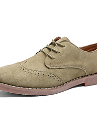 cheap -Men's Shoes Nubuck leather Winter Comfort Oxfords for Casual Office & Career Khaki Brown Black
