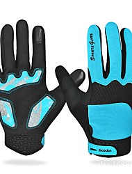 cheap -Sports Gloves Bike Gloves / Cycling Gloves Wearable Breathable Full-finger Gloves PU Leather Bonded Rubber silicon Mountain Cycling Road